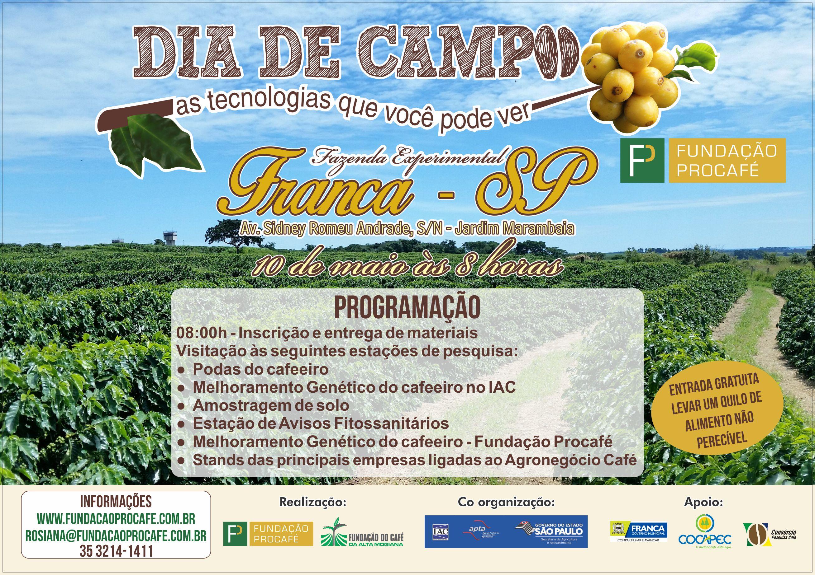 Procafé - Dia de Campo Franca - Cartaz 2017