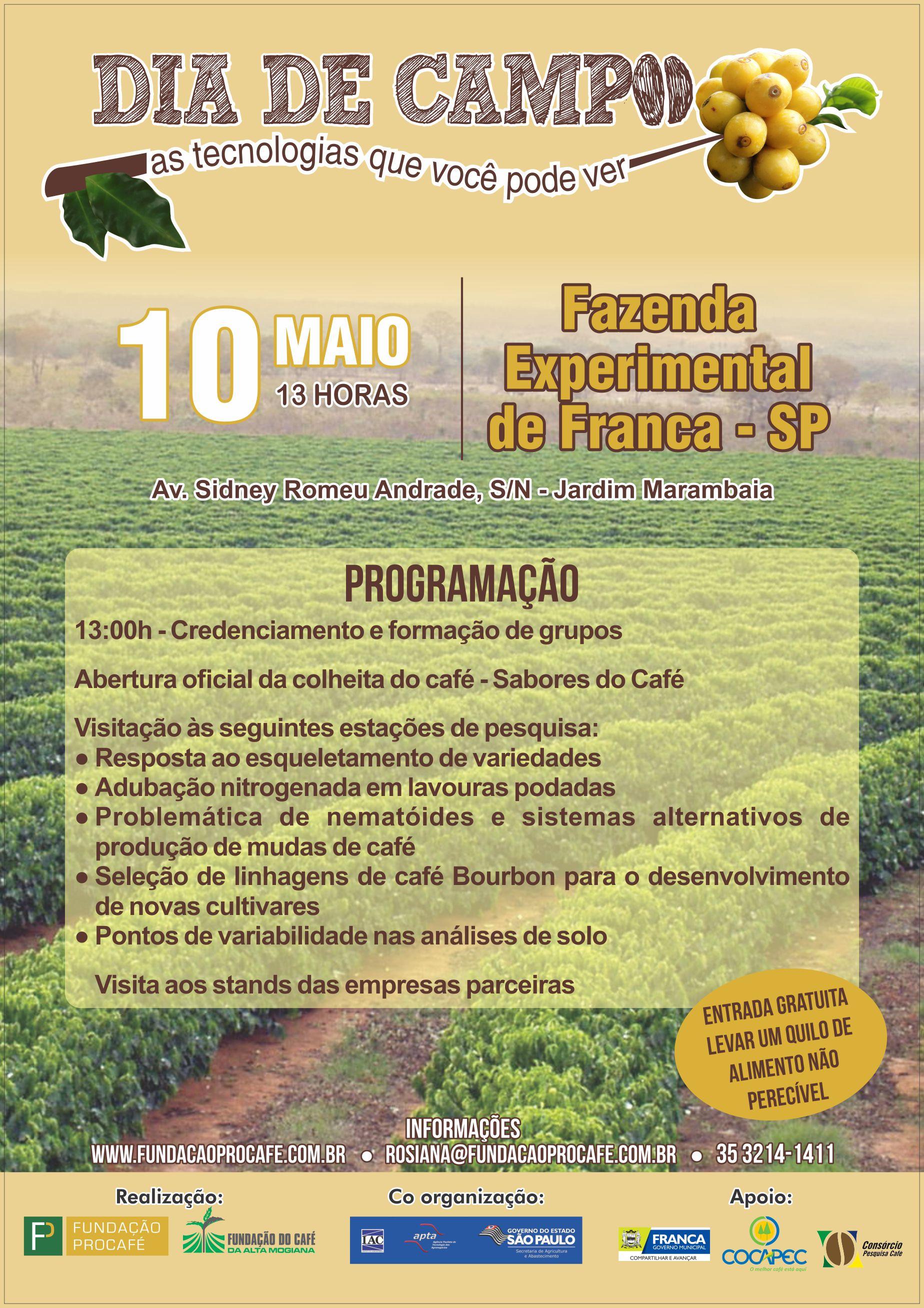 Procafé - Dias de Campo Franca - Cartaz 2018 (1)